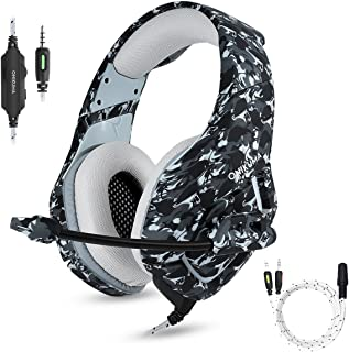 PS4 Gaming Headset with Microphone for PC New Xbox One PSP Gamer Headphones with Mic Noise...