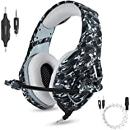 Gaming Headset with Microphone for PS4 PC Xbox One, Stereo Over Ear Gamer Headphones with Mic...
