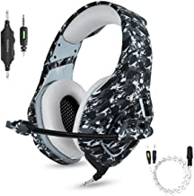 Best PS4 Gaming Headset with Microphone for PC New Xbox One PSP Gamer Headphones with Mic Noise Cancelling for Laptop, Mac, Smart Phones, Nintendo Switch, Surround Stereo Sound Volume Control(Camouflage) Review