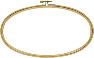 Bulk Buy: Darice DIY Crafts Wooden Embroidery Hoops Oval 5 x 9 inches (6-Pack) 39106