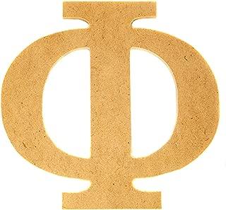 Phi 7.5 Inch Greek Fraternity/Sorority Wood Letters (7.5 Inch)