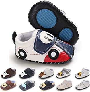BEBARFER Baby Boys Girls Shoes Cartoon Crawling Slippers Soft Moccasins Toddler Infant Crib Pre-Walkers First Walkers Shoes Sneakers