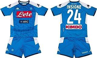 MINIKIT Gara Home Bambino Maglia E Pantaloncino MILIK, James, Maradona, INSIGNE, MANOLAS SSC Napoli 19//20 Personalizzata Personalizzabile