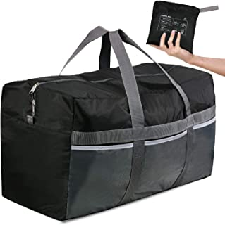 CAMPMOON Extra Large Duffle Bags for Men Travelling, 96L Oxford Foldable Lightweight Duffel Bag for Travel Camping, Black