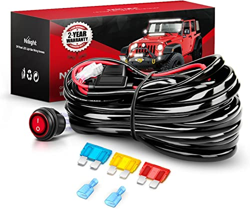 high quality Nilight Wiring Harness Kit 14AWG Heavy Duty 2021 12V On-Off Switch Power Relay Blade Fuse for Off Road LED Work Light Bar-ONE Lead,2 Years online Warranty sale