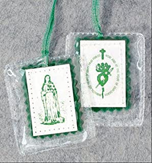 Green Laminated Scapular Green Felt Backing. It Is Laminated for Extra Protection. Pieces/pkg: 12