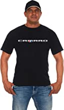 JH Design Men's Chevy Camaro Shield T-Shirt Short Sleeve Black Crew Neck Shirt