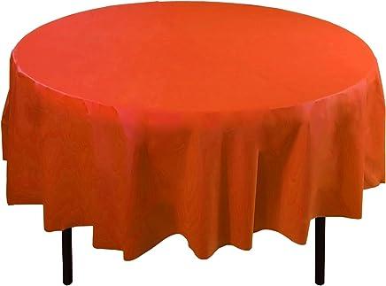 Round Table Orange.Orange Round Tablecloths Kitchen Dining Home Kitchen A A