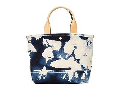 J.Crew Tie-Dye Washed Canvas Mini Tote (Natural Blue) Handbags