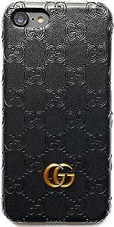 Phone Case for iPhone 7 Plus 8 Plus Case, Elegant Street Fashion Luxury PU Leather Slim Fit Hard Cover Case for iPhone 7 Plus 8 Plus -Black