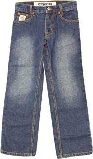 Cinch Boys' White Label Demin Straight Leg Jeans Denim 10 S