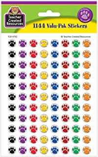 Teacher Created Resources Colorful Paw Prints Mini Stickers Value Pack (4742)