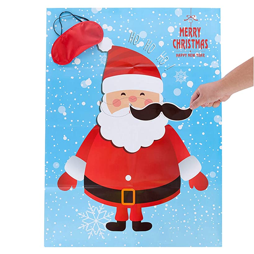 MISS FANTASY Christmas Party Games Pin The Beard on The Santa Claus Xmas Activities for Kids for Toddlers New Year Party Game for Families (Santa Claus)
