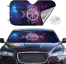 Jkjkop Wiccan Pagan Witch Auto Windshield Sun Shade Blocks Uv Rays Sun Visor Protector Vehicle Cool Heat Shield Shade