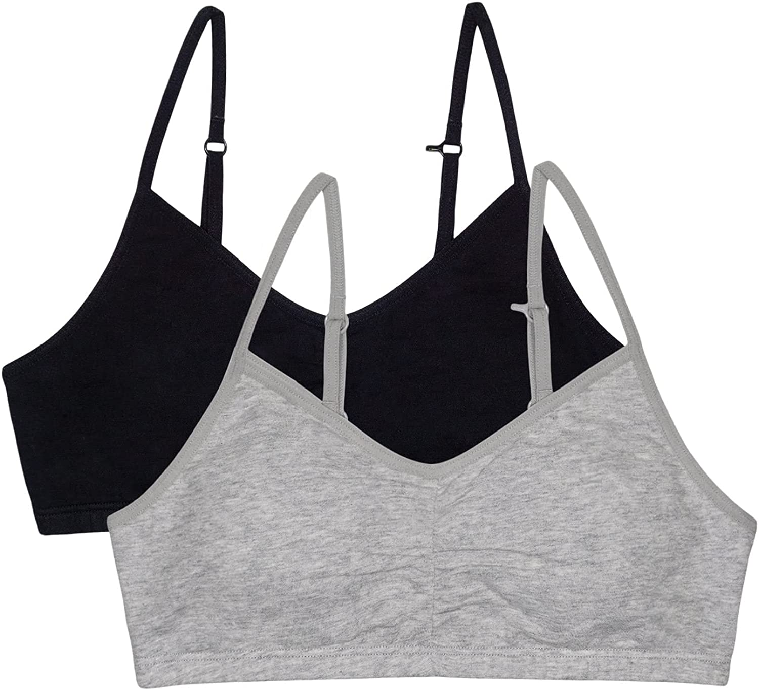 Fruit of the Loom Girls' Bra with Removable Cookies, 2-Pack: Clothing, Shoes & Jewelry