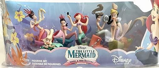 The Little Mermaid Ariel & HER Sisters Figurine SET of 7 Figures Disney Store Exclusive (2011?)