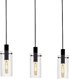 EGLO MONTEFINO - Lámpara de techo, acero, 60 W, color negro