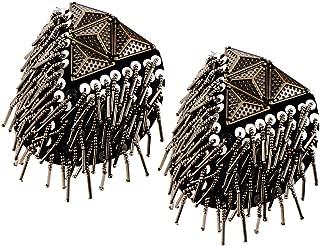 2PCS Shoulder Epaulets Tassel Chain Vintage Rhinestone Fringe Epaulet Boards Badge Shoulder Brooch Uniform Accessories
