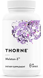 Sponsored Ad - Thorne Research - Melaton-3 - Melatonin Supplement (3 mg) to Promote Sleep and Relaxation - 60 Capsules