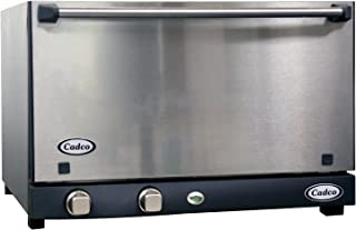 Cadco OV-013SS Half Size Catering Convection Oven with Stainless Door and Manual Controls, 120-Volt/1450-Watt, Stainless/Black