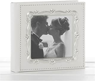 Deluxe Leather Effect White Wedding Day Photo Album by Shudehill