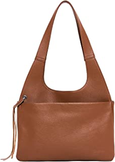 BOSTANTEN Women Genuine Leather Hobo Handbag Designer Soft Shoulder Tote Purses