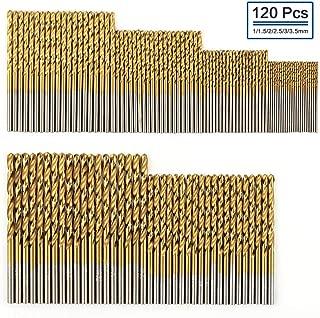 PANOVOS 19Pcs Titanium Twist Drill Bit Set High Speed Steel for Steel Wood Plastic Aluminum Alloy 1mm-10mm