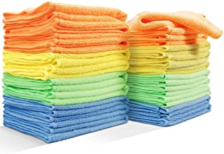 Masthome 20PCS Strong Water Absorption Clean Cloth No Fabric Soft Microfiber Kitchen Cleaning Rags
