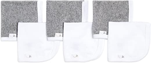 Burt's Bees Baby - Washcloths, Absorbent Knit Terry, Super Soft 100% Organic Cotton (Heather Grey, 6-Pack)