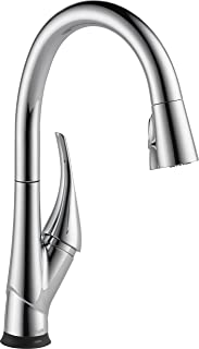 Delta Faucet Esque Single-Handle Touch Kitchen Sink Faucet with Pull Down Sprayer, Touch2O and ShieldSpray Technology, Magnetic Docking Spray Head, Chrome 9181T-DST