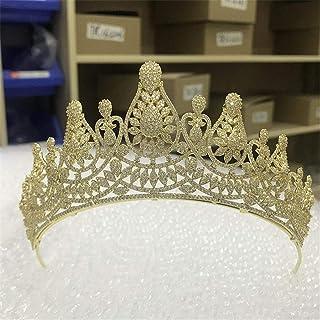 SUIWO Princess Gems Gems Gems Strass Tiara Kid Girl Prom Birthday Princess Party Wedding Tiara Micro-Inlaid Zircone Corona...