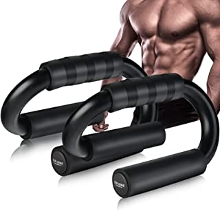 AIR-ONE SPORTS | Push Up Bars for Men and Women (Large & Medium Size), Extra Thick Non-Slip Foam Grip, Perfect Home Gym Ex...