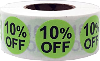 10% Percent Off Stickers for Retail 0.75 Inch 500 Adhesive Labels