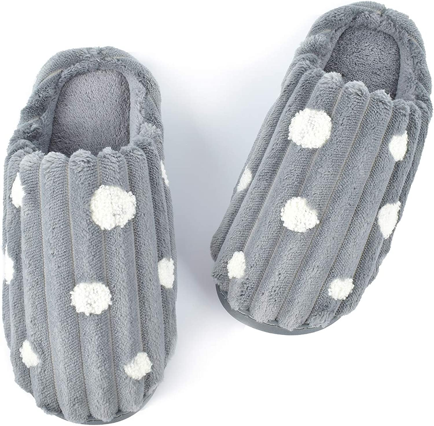 LOOPUINHOM Max 55% OFF Women's Soft Plush Special Campaign Slippers Memory House Cozy Foam Sl