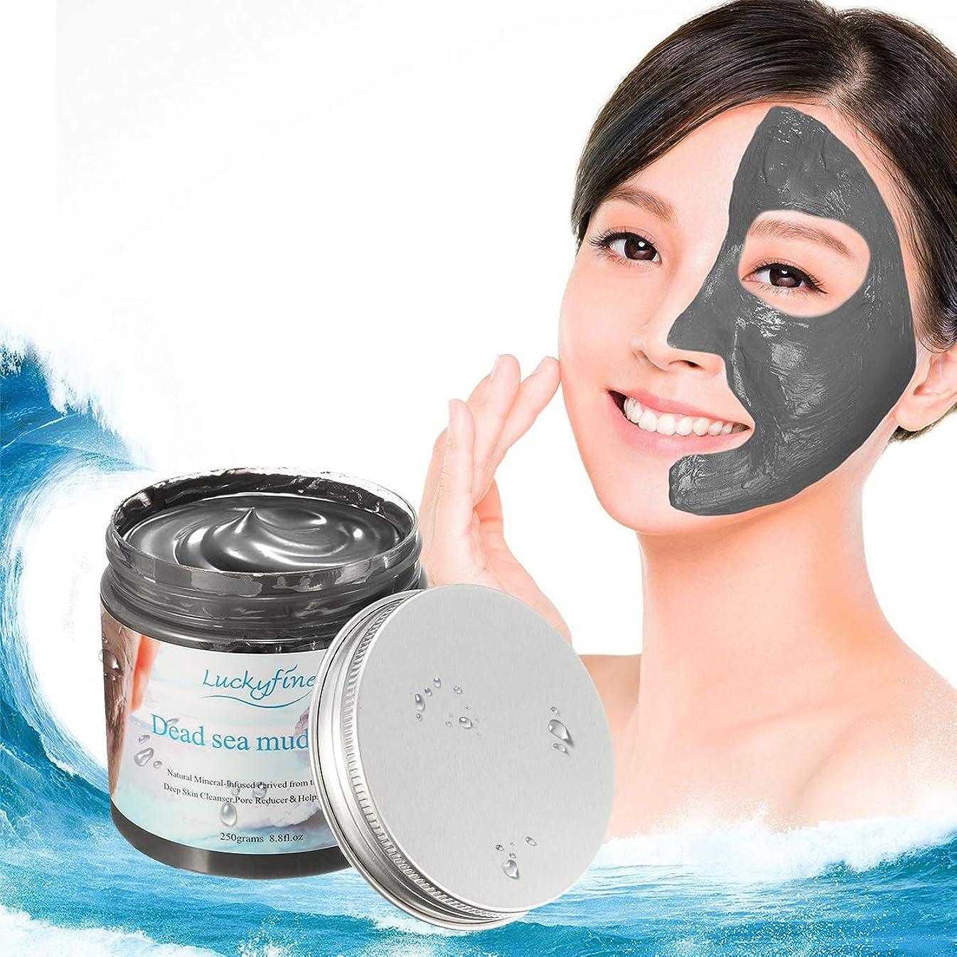 業界装備するやけど泥パック LuckyFine 泥マスク 死海 毛穴 角質 顔 保湿 シアバター お顔 全身 250g