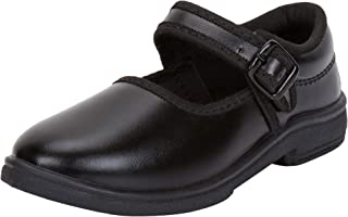 Earton Girl Comfortable & Trendy Look Rexine Black School Shoes 1098_$p