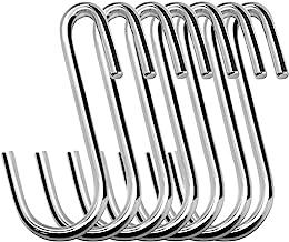 30 Pack Esfun Heavy Duty S Hooks Pan Pot Holder Rack Hooks Hanging Hangers S Shaped Hooks for Kitchenware Pots Utensils Cl...