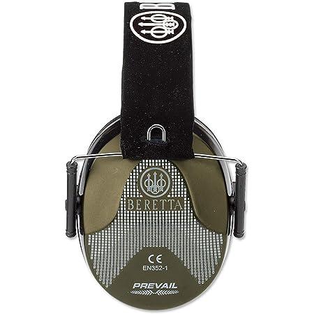 Beretta - Casco modello Head Prevail con guscio colorato e supporto per cordino, fascia morbida regolabile e cuscino in schiuma Air-Gel Valori di attenuazione SNR - 25dB Peso: 290g