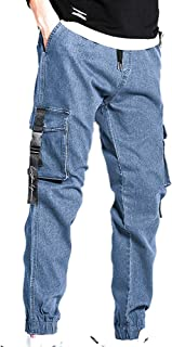 XYXIONGMAO Hip Hop Mens Joggers Streetwear Cargo Pants Teen Multi-Pocket Overalls Loose Casual Jeans