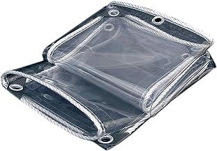 Schaduw en regendicht zwembad tafelhoes Clear Tarpaulin, 365GSM Heavy Duty PVC Tarp, Multifunctionele dikte 0.3mm met oogj...