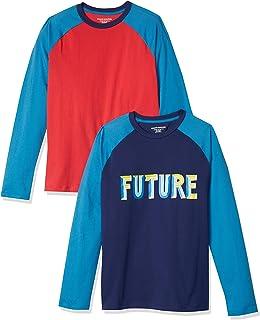 Amazon Essentials 2-Pack Long-Sleeve Raglan Shirt Niños, Pack de 2