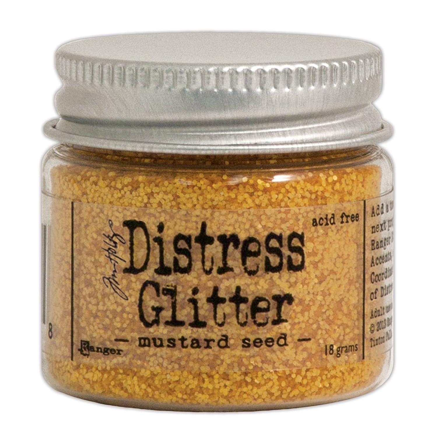 Ranger Tim Holtz Distress Glitter, 1-Ounce, Mustard Seed