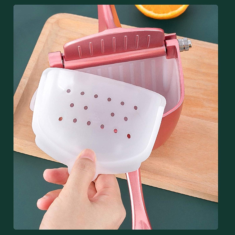 Kaibrite - Exprimidor manual manual de fruta, calidad de cocina, aleación de aluminio, exprimidor portátil, 2 opciones de color (rosa) Rosa.