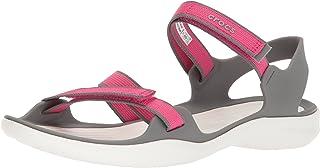 crocs Swiftwater Webbing Sandal W Sandalias Flip-Flop para Mujer