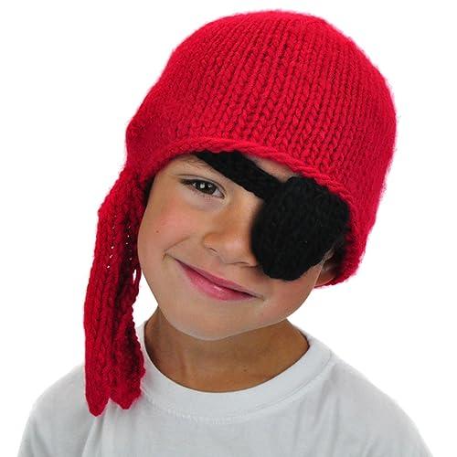 Neon Eaters Kids Pirate Beanie Patch - Cute Fun Boys Winter Ski Snowboard  Hat Christmas 668a63eb7d1