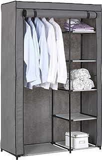 IDIMEX Garde-Robe en Tissu Tanja Armoire en Tissu, Rangement pour vêtements, Structure en métal, avec 5 tablettes et 1 Tri...