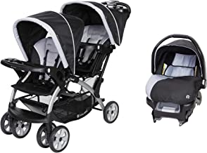 Baby Trend Sit N Stand Double Stroller + Infant Car Seat Travel System, Stormy