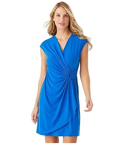 Tommy Bahama Carmela Short Sleeve Faux Wrap Dress (Turkish Sea) Women