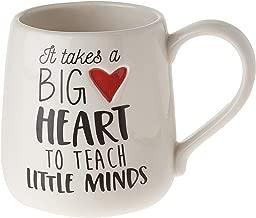 "Our Name is Mud ""Big Heart Teacher"" Stoneware Coffee Mug, 16 oz."
