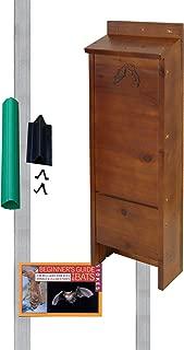 BestNest Premium Stained Bat House Kit with Pole, 65 Bats